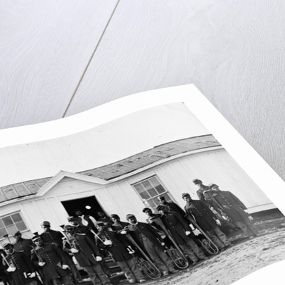 Arlington, Va. Band of 107th U.S. Colored Infantry at Fort Corcoran by American Photographer