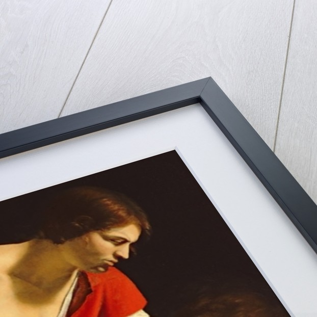 David contemplating the head of Goliath by Orazio Gentileschi