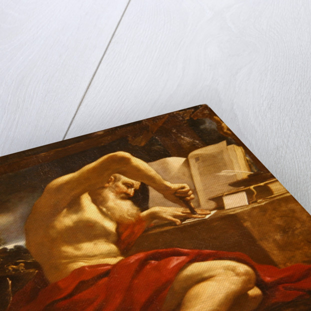 St. Jerome sealing a letter by Guercino