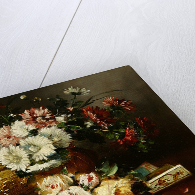 Still Life with a Fan by Eugene Henri Cauchois