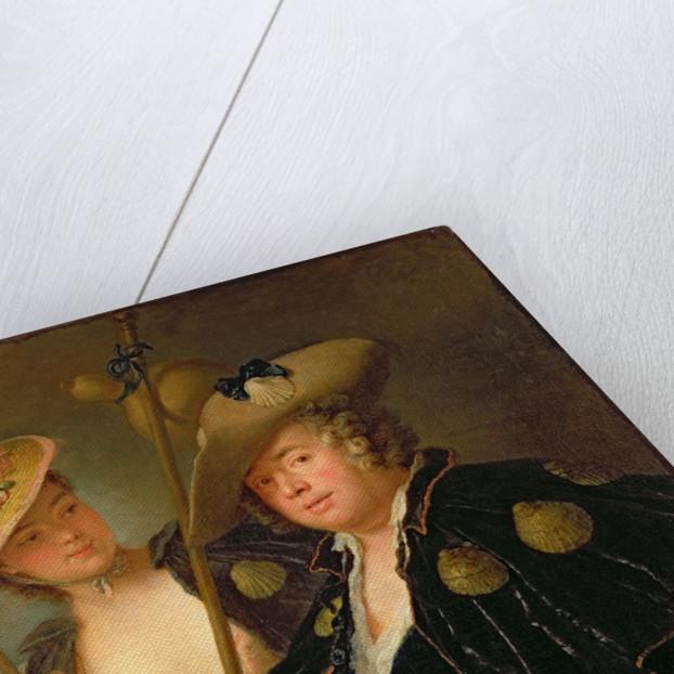 Gustav Adolf Graf von Gotter and his Niece Friederike von Wangenheum in Pilgrim Costumes by Antoine Pesne