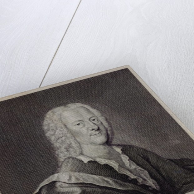 Portrait of Georg Philipp Telemann by Georg Lichtensteger