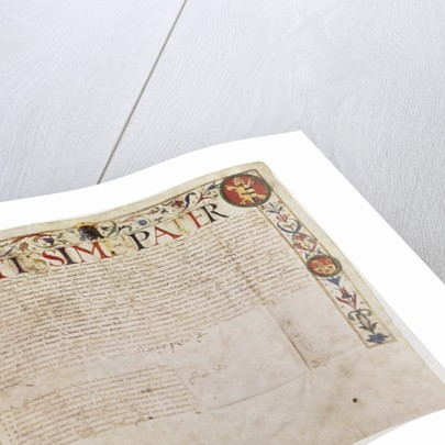 A petition from the German banking family Fugger to Pope Alexander VI by German School