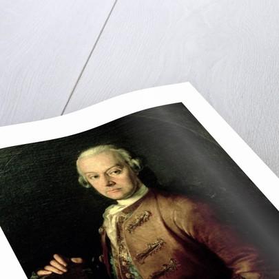 Johann Georg Leopold Mozart, father of Wolfgang Amadeus by Peter Anton Lorenzoni