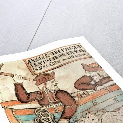 Thor fishing for the serpent of Midgard by Icelandic School