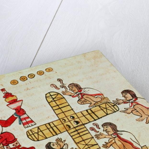 Gambling Patoli and the god, Xochipilli by Aztec