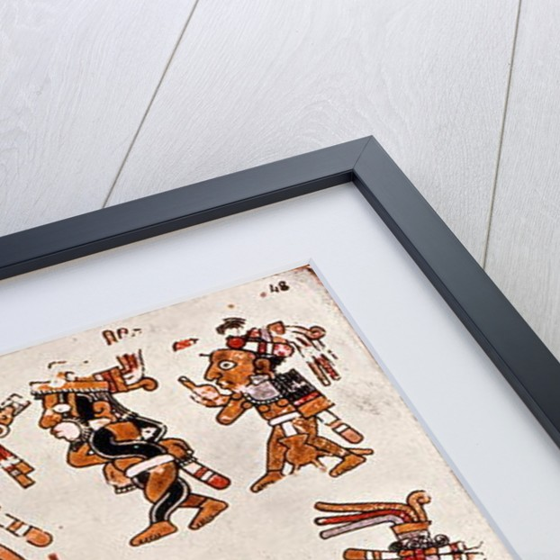 Mexican codex showing the genealogy of the Aztec civilisation by Mexican School