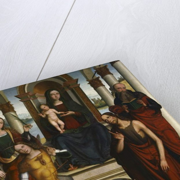 Madonna and Child Enthroned with Saints, 1506 by Michele di Luca dei Coltellini