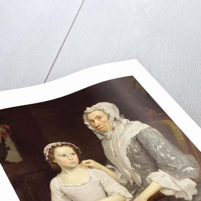 Portrait of an Elderly Lady and a Young Girl by George Beare