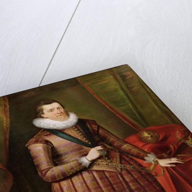 James VI of Scotland and I of England by Paul van Somer