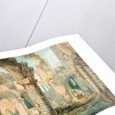 St. Cuthbert's Holy Island by Thomas Girtin