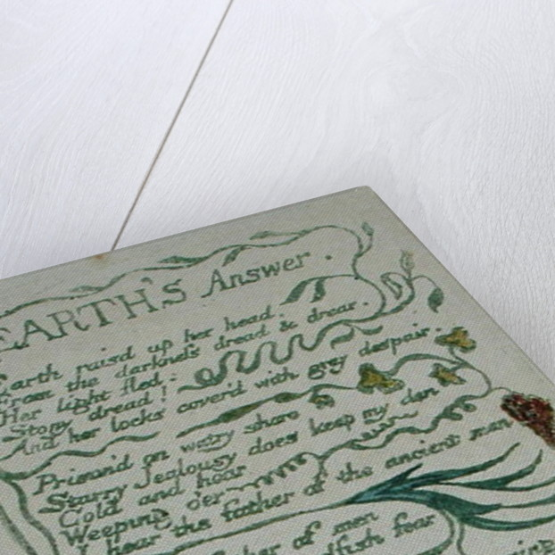 Earth's Answer by William Blake