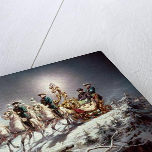 Ludwig II of Bavaria Sleighing at Night from Neuschwanstein to Linderhof by Karl Gottlieb Wenig