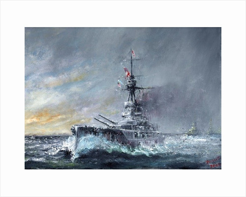 HMS Iron Duke Equal Speed Charlie London Jutland 1916 by Vincent Alexander Booth