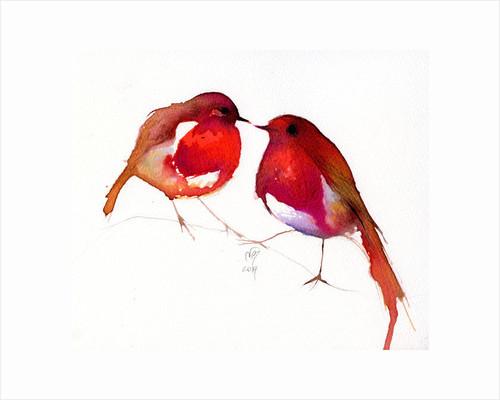 Two Little Ink Birds by Nancy Moniz Charalambous