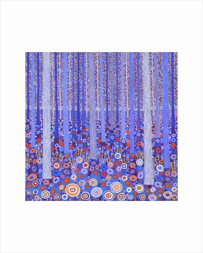 Blue Orange Forest by David Newton