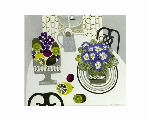 Primulas and Beach by Vanessa Bowman