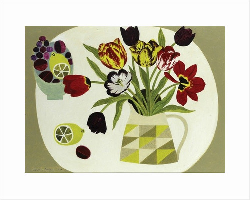 Tulips in Geometric Jug by Vanessa Bowman