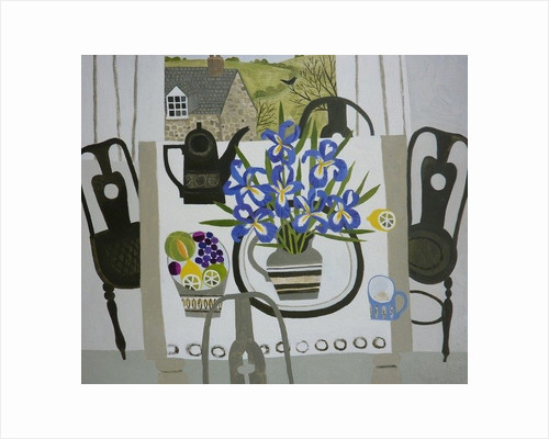 Irises on the Table by Vanessa Bowman