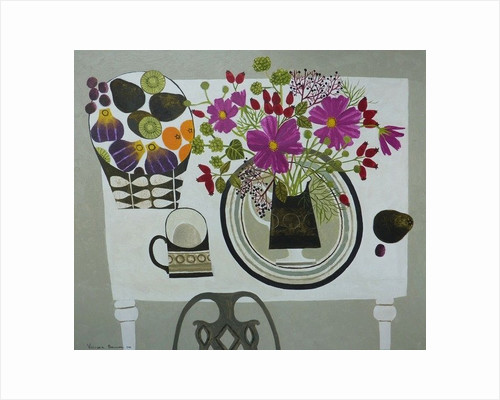 Cosmos and Fruitbowl by Vanessa Bowman
