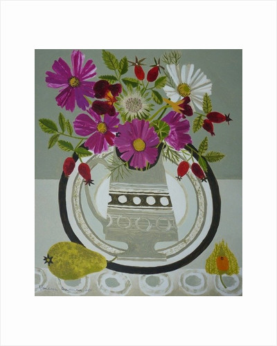 Cosmos and Berries by Vanessa Bowman
