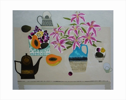 Stargazer Lilies and Guava by Vanessa Bowman