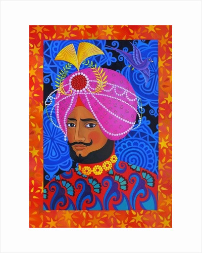 Maharaja with Pink Turban by Jane Tattersfield