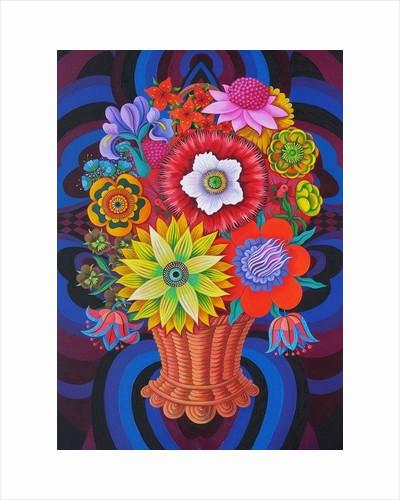 Blooms in a basket by Jane Tattersfield