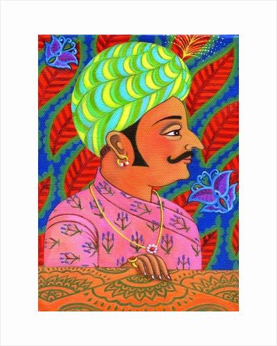 Maharaja with butterflies by Jane Tattersfield