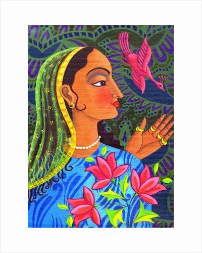 Maharani with magenta bird by Jane Tattersfield