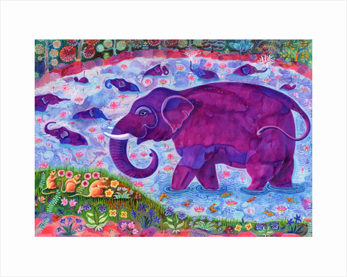 Elephant and mice, 1998 by Jane Tattersfield