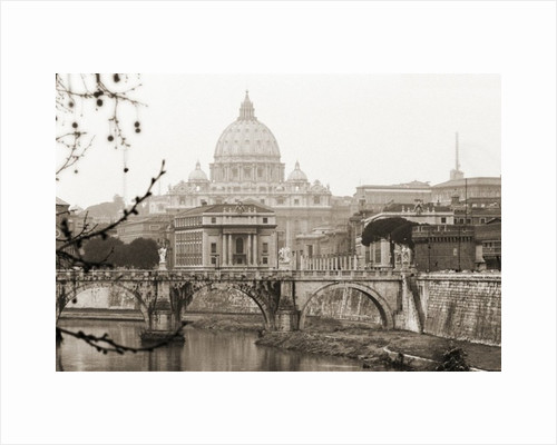 The Vatican in Autumn seen from the Tiber River by Pat swain