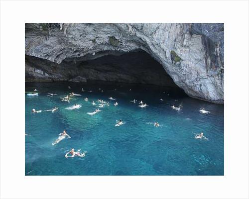 People Swimming in Mediterranean by Pat swain