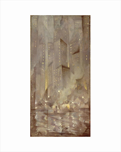 New York by Night, c.1922 by Christopher Richard Wynne Nevinson