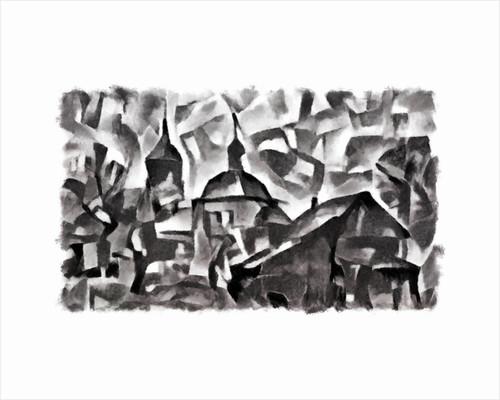 view (black) #1, 2016 by Alex Caminker