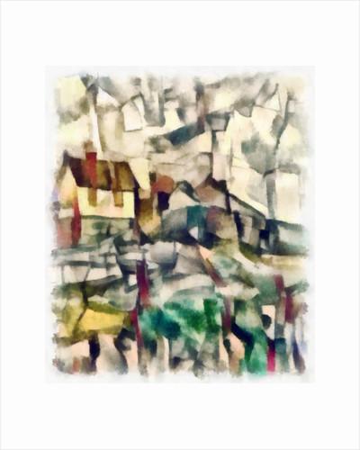 View (green) #30, 2016 by Alex Caminker