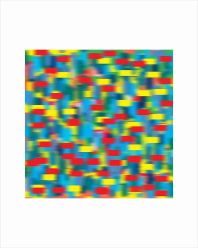 horizontal puantilism blue, 2019 by Alex Caminker