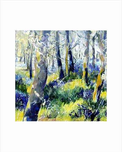 Bluebells and Yellow by Mary Smith