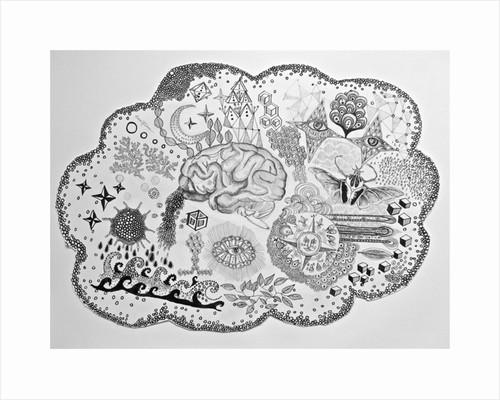 Thought Bubble Brain by Hazel Florez