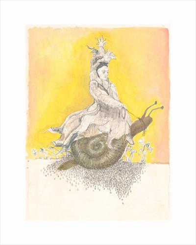 Queen Victoria Riding a Snail by Hazel Florez