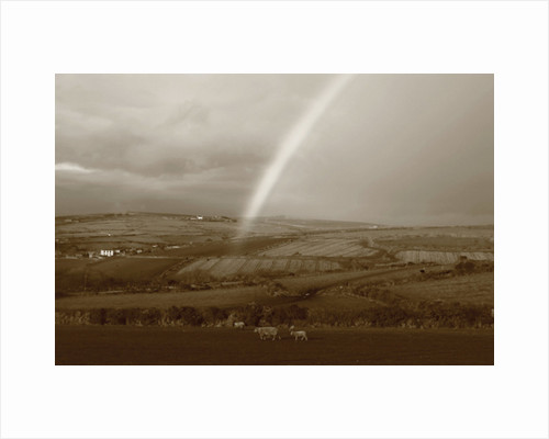 Rainbow Over Countryside, 2013 by Paul Gillard