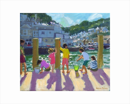 Quayside fishing, Looe by Andrew Macara