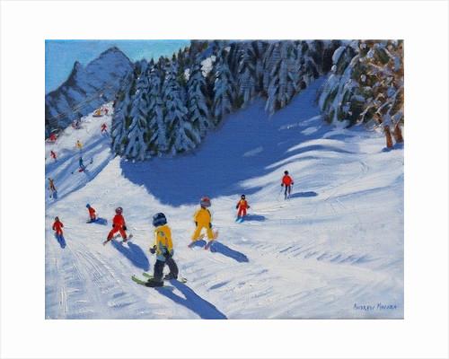 Ski school, Morzine by Andrew Macara