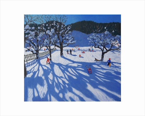 The Orchard in Winter, Morzine by Andrew Macara