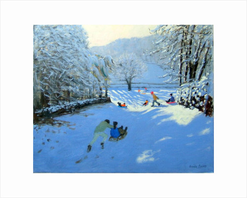 Pushing the Sledge, Youlgreave by Andrew Macara