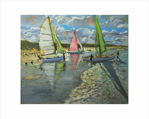 Three Sailboats, Bray Dunes, France by Andrew Macara