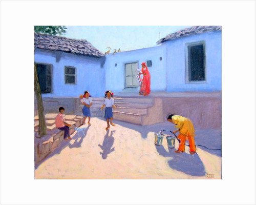 Filling Water Buckets, Rajasthan, India by Andrew Macara