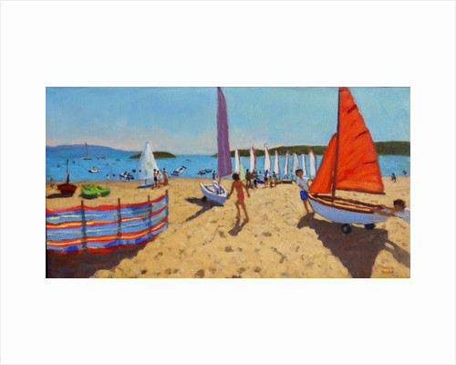 Pushing out the boat, Abersoch by Andrew Macara