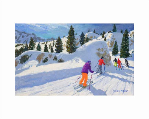 Skiing, Rock City, Selva Gardena, Italy by Andrew Macara