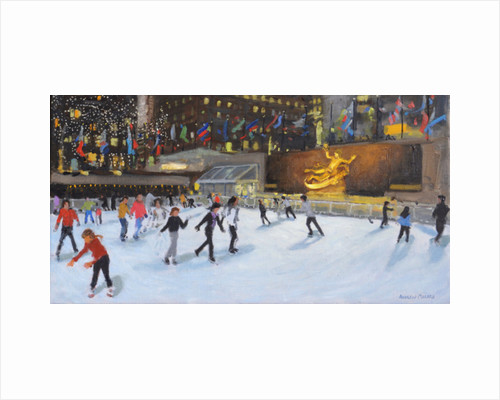 Evening, Rockerfeller Ice Rink, New York by Andrew Macara